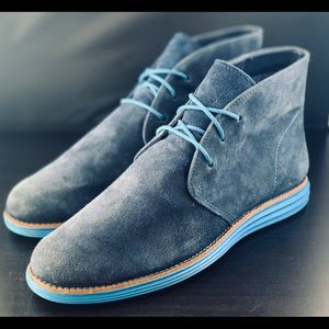 Cole Haan Lunargrand Suede Chukka Boots